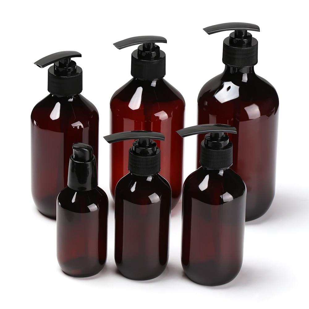 100ML-500ML Brown Transparent Hand Sanitizer Bottle Liquid Soap Whipped Mousse Points Bottling Shampoo Lotion Shower Gel Bottles