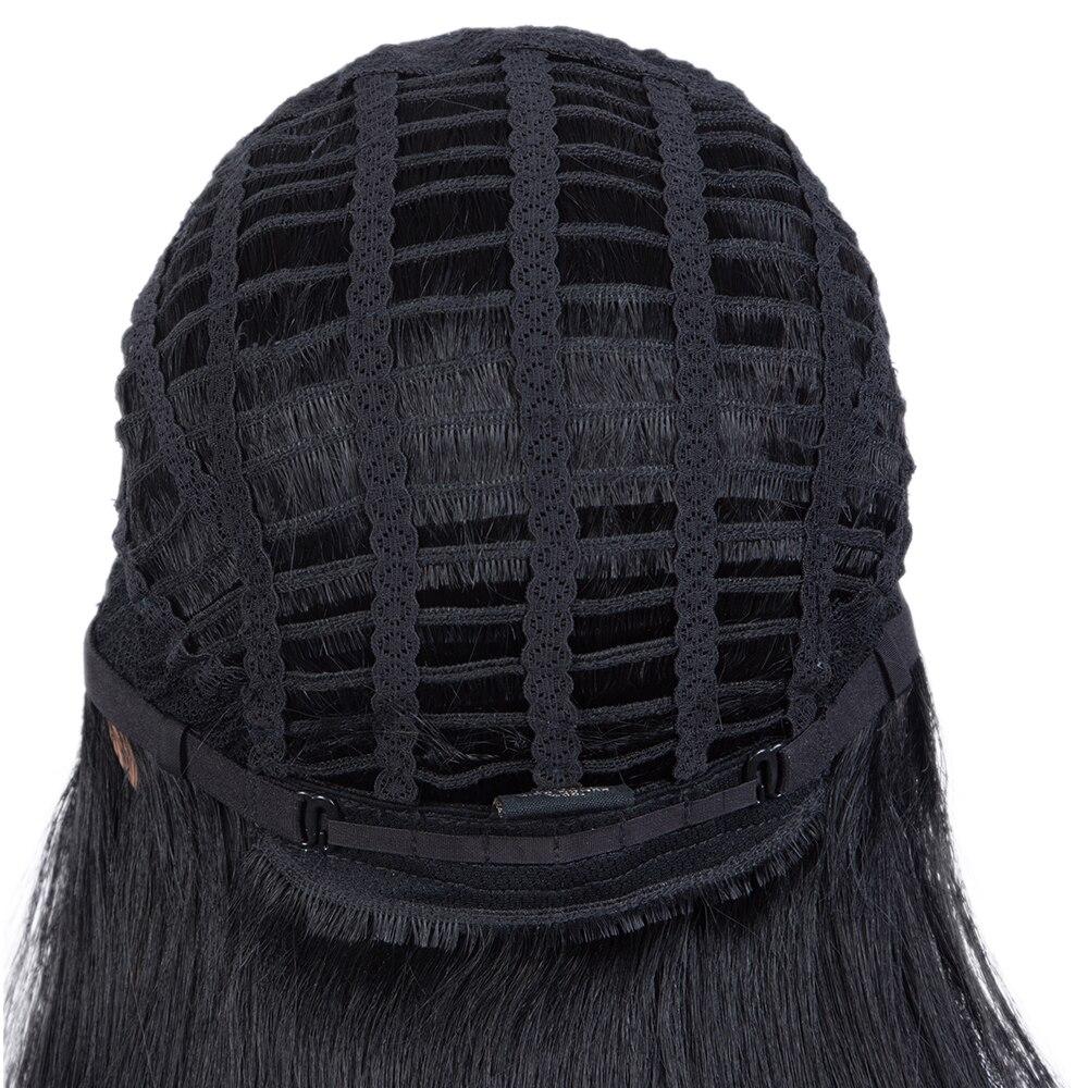 peruca do laço em linha reta perucas