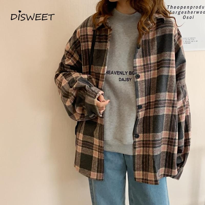 College Style Woman Long Sleeve Spring Shirt Woman Retro Lapel Single-breasted Slim Shirt Ladies Korean Loose New Shirt Women