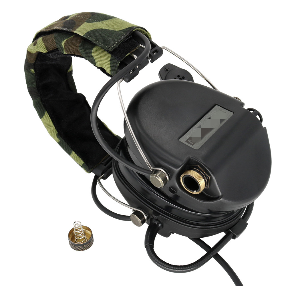 Electronic Sordin Tactical Headset Hunting Shooting Earmuffs Airsoft Military Standard Noise Reduction Pickup Headphone BK