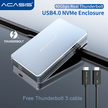 Acasis USB4.0 M.2 SSD Enclosure 40Gbps M2 NVMe Case Compatible with Thunderbolt 3 4 USB 4.0 3.2 3.1 3.0 Type C  For Laptop 1