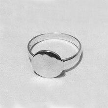 Beadsnice 925 пробы серебряные кольца ювелирные изделия кольцо пустые с 12 мм плоской подложкой для стеклянных кабошонов и смолы кольца поделки ID28723