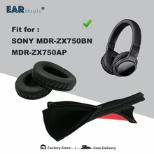 소니 MDR ZX750BN MDR ZX750AP 이어폰 귀마개 쿠션 커버 범퍼 슬리브에 대한 교체 귀 패드 머리띠 1 세트