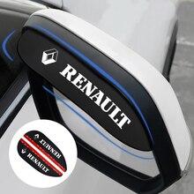 Car-Rearview-Mirror Logan Fluence Renault Rain-Blades Eyebrow Water-Rainproof-Cover 2PCS
