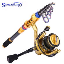 nunatak carbon fiber reed combo bar 9 feet and fly fishing aluminum reel 7 8 and 2 7 m rod reel fly line fly box lure Sougayilang Fishing Rod and Reel Combo Telescopic Carbon Fiber Fishing Rods with 14 BB Spinning Fishing Reel Saltwater Fishing