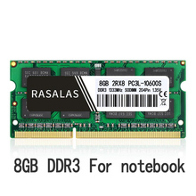 Rasalas 8Gb 2Rx8 PC3-12800S DDR3 1600Mhz SO-DIMM 1,5V 1.35V Oперативная Nамять Notebook Ram 204Pin Laptop Geheugen sodimm NO-ECC