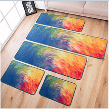 Modern personality oil painting impression kitchen long bedside carpet bedroom mat non-skid foot can be machine washed