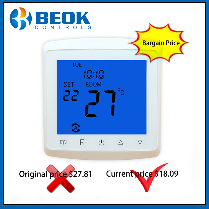 16A LCD Touch Screen Thermostat Electric Floor Heating System Thermoregulator AC85-265V Temperature Controller
