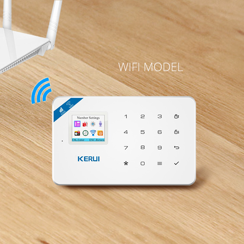 KERUI W18 Android IOS App Wireless GSM Home Alarm System SIM Smart Home Burglar Security wifi IP HD camera Alarm System