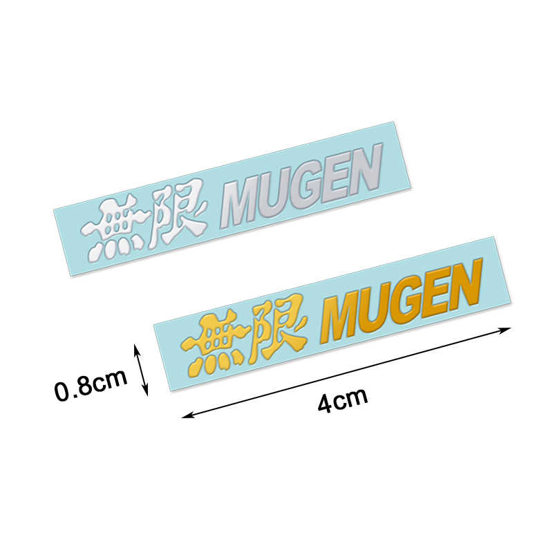 10Pcs Mugen logo emblema emblema adesivo decalque para Honda Accord Cidade Civic CRV Fit Odyssey Crider Jazz Jade Fluxo greiz Elysion
