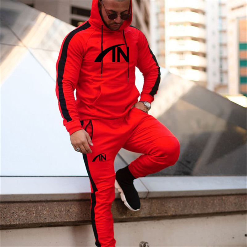 2019 Men Sportswear Hoodies Pants Set Autumn Track Suit Clothes Casual Tracksuit Men Sweatshirts Male Joggers Streetwear