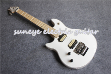 цены High Quality Glossy White Wolfgang EVH Electric Guitar Left Handed Guitarra Electrica Dot Inlaid Free Shipping