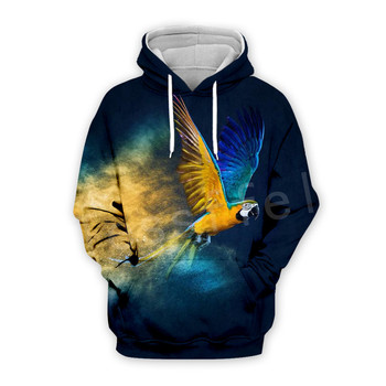 Tessffel Animal Parrot Unisex Colorful Funny NewFashion Tracksuit Harajuku 3DPrint Zipper/Hoodies/Sweatshirt/Jacket/Men/Women 10 1