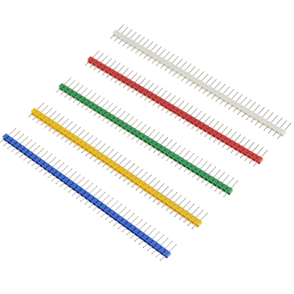 10PCS 3A Pin Connector Male 2.54mm Pitch Pin Header Strip Single Row 40 Pin Connector Kit For PCB Board  40Pin 1x40P Breakable