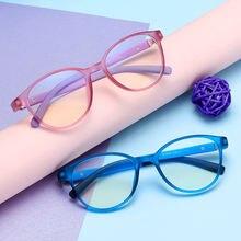 Круглые детские Компьютерные очки для мальчиков и девочек ретро