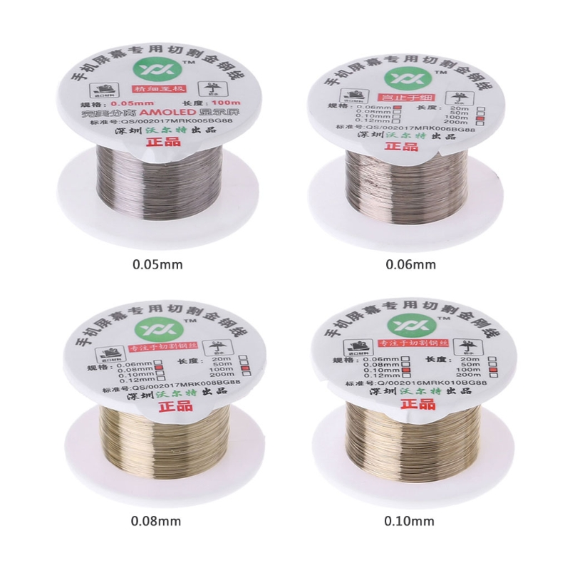 100m Alloy Gold Molybdenum Wire Cutting Line LCD Display Screen Separator Repair
