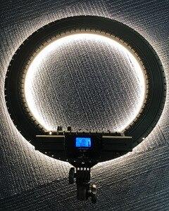 Image 4 - Fosoto RL 18BII LED Ring Light 3200 5600K illuminazione della lampada con treppiede e Slot per batterie per fotocamera foto Youtube Studio Video Makeup