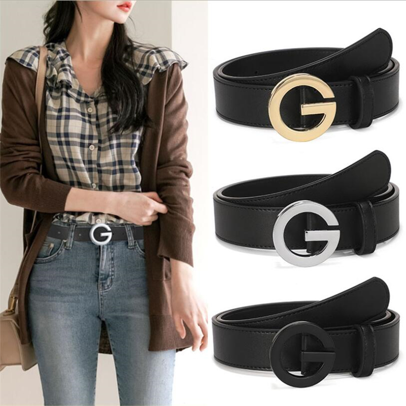 Women's Men's Luxury Designer Brand Belt High Quality Double Classic Real Genuine Leather Men Women Belts Gifts 3.4cm