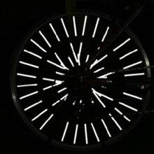 36 шт. Предупреждение светильник полосы безопасности отражатель DIY Велосипедное колесо Светоотражающие Трубки велосипедного колеса обода спицами велосипедным фиксирующим креплением трубки