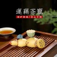 Chang tao yiyixing acessórios de chá jogar pequeno chá pet lotus capa grande eles aproximadamente lama artigos de mobiliário