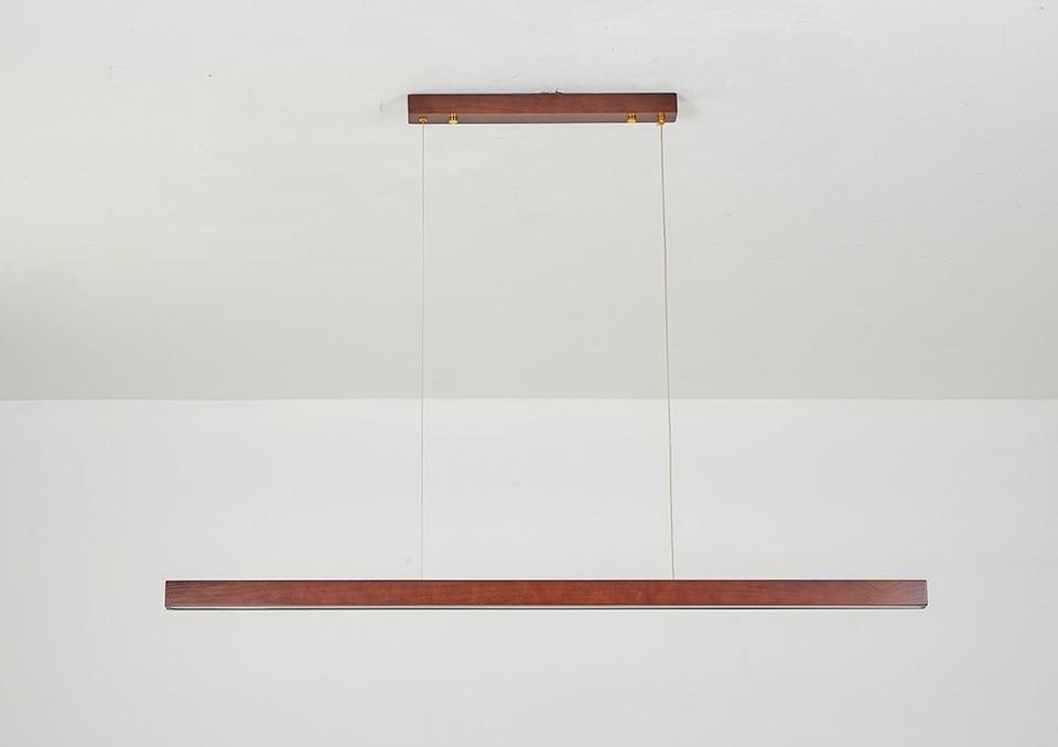 madeira nordic minimalista alumínio pingente lâmpada restaurante