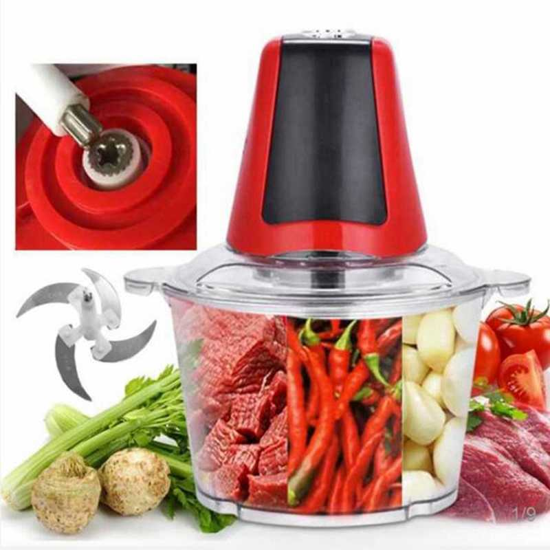 2Lไฟฟ้าChopperที่มีประสิทธิภาพเครื่องบดเนื้อเครื่องใช้ในครัวเรือนอาหารเนื้อเครื่องปั่นUs Plug