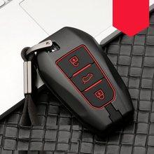 De fibra de carbono de aleación de coche caso clave cubierta carcasa para mando a distancia sin llave para Peugeot 208, 308, 508, 3008, 5008 para Citroen C4 Picasso DS3 DS4 DS5 DS6
