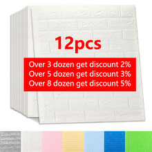Wall-Stickers Backdrop Bedroom-Decor Imitation-Brick TV Living-Room 3D Kitchen Waterproof