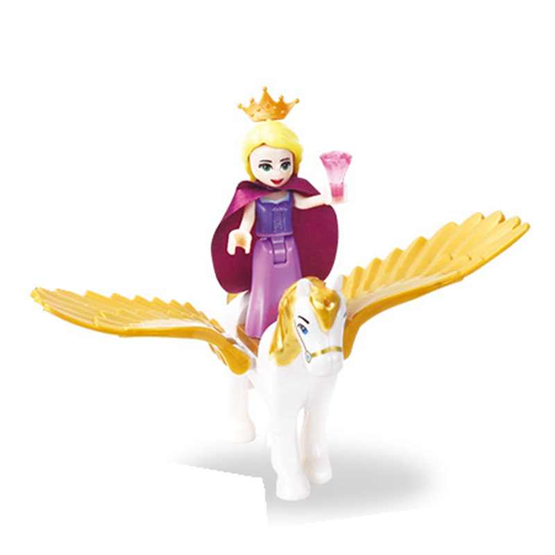 Single Sale Legoings Citys Educational Birthday Princess with Flying Horse Kids Gift Simulation Toys Compatible Legoing Toy Kits
