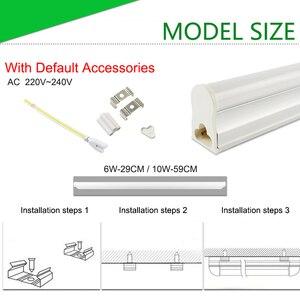 Image 3 - Ampoule Tube T8 LED néon, 10w 60cm, ac 110/220v, Tube Fluorescent à LED, lampe à LED, laiteux, blanc chaud, rouge, bleu, rose, SMD2835