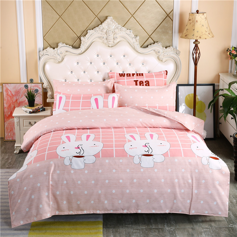 Classic Bedding Set Luxury Pink Family Set Linens Quilt Cover Set Pillowcase Single Queen King Super King Max King Bed Set Size