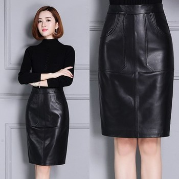 2020 Women New Real Genuine Sheep Leather Skirt K4 2020 new fashion real genuine sheep leather skirt g16