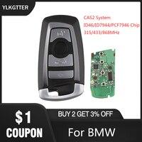 YLKGTTER 4 Button Remote Key Fit for BMW X3 X5 Z3 Z4 Z8 3/5/6/7 Series CAS2 System with 315/433/868MHz Switchable HU92 Car Alarm