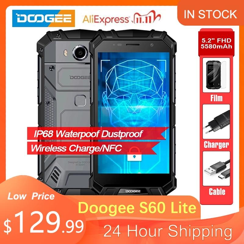 DOOGEE S60 Lite IP68 wody 5580mAh ładowanie Wireless 12V2A szybkie ładowanie 5.2 FHD MT6750T Octa Core 4GB 32GB smartfon 16.0MP Cam