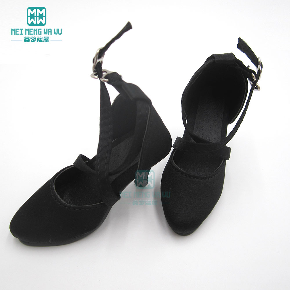 New Girl Shoes Black Personality Small boots BJD Doll 1//3 SD10 High-heeled shoes