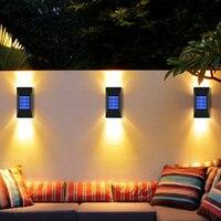 2/6 LED Solar Lampe Im Freien Wasserdichte Straßen Beleuchtung Wand Lampen Leistungsstarke Solar Powered Lichter für Garten Dekoration
