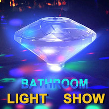 LED Swimming Pool Float Light Colorful RGB Projection Lamp Powered by AAA Battery Bathroom Light Creative Design  Waterproof