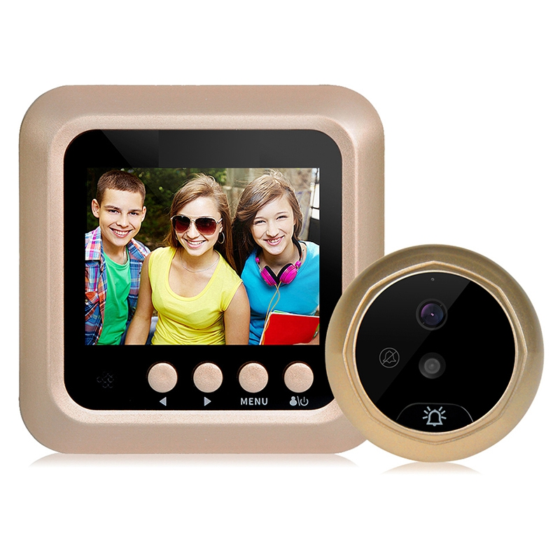 Promotion--2.4Inch Lcd Color Screen 160 Degrees Ir Night Door Peephole Camera  Recording Digital Door Camera No Disturb Doorbell