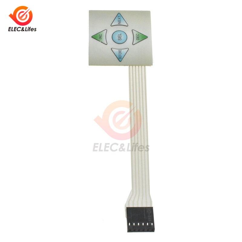 1x5 Matrix Array 5Key Membrane Switch Keypad Keyboard 15 Keys Control Panel Plate 4040mm for Arduino