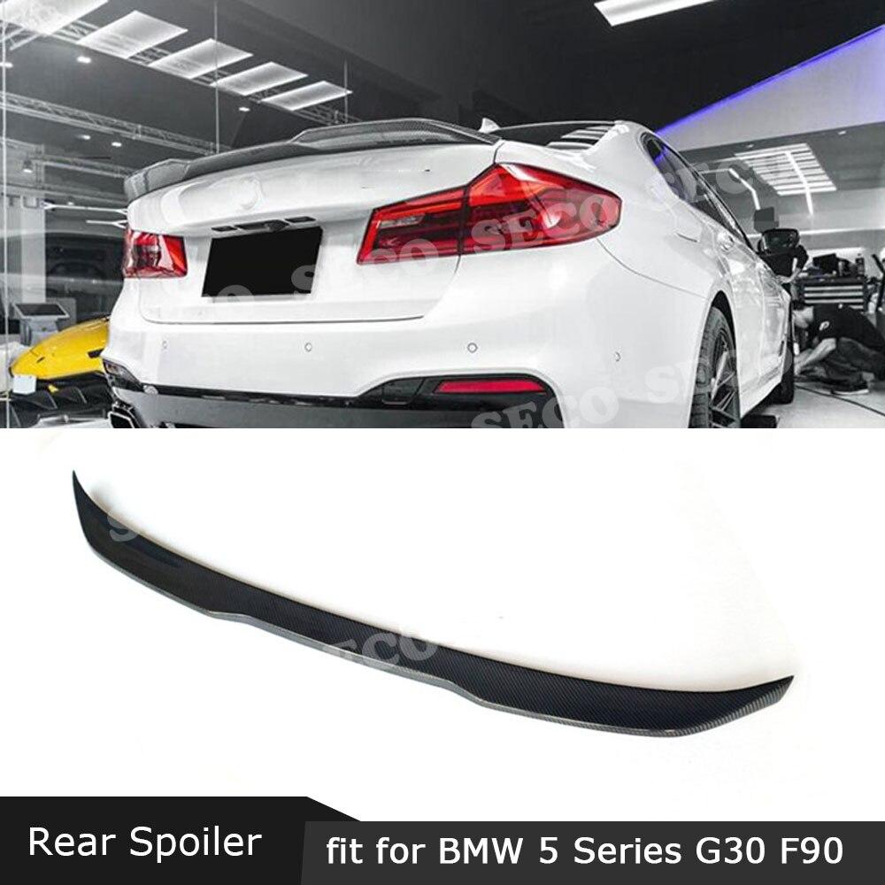 Pour BMW série 5 G30 F90 M5 berline 2017-2019 botte arrière canard Spoiler fibre de carbone/FRP PO Style ailes arrière Style voiture