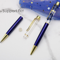 100Pcs High End DIY Production Crystal Color Ballpoint Pen Metal Empty Pen Birthday Valentine's Day Gift Color Random