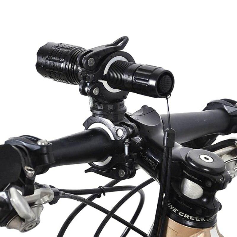 3PCS 360 Degree Rotation Cycling Bicycle Bike Flashlight Front Lamp Mount Holder