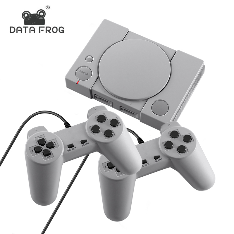 DATA FROG Retro Video Game Console 8 Bit Built-in 620 Classic Game Double Players Family TV Retro Game Controller Support AV Out