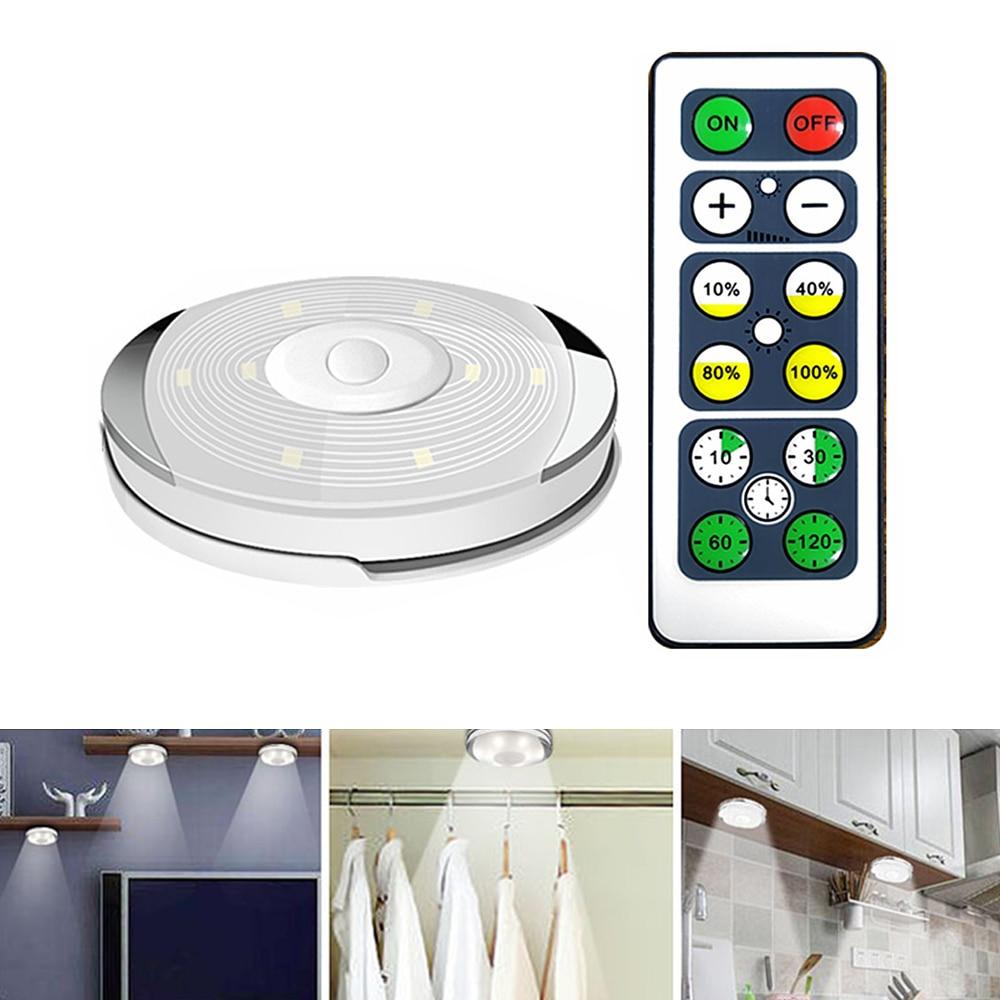 Светодиодная подсветка под шкаф белая Беспроводная для шкафа шкаф для спальни кухонная лампа с регулируемой яркостью ночные светильники с контроллером|Подшкафные лампы|   | АлиЭкспресс