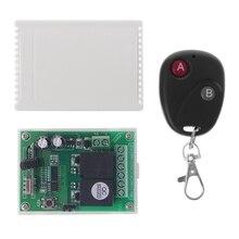 DC12V 2CH RF télécommande sans fil interrupteur 2 boutons transmetteur + récepteur 433MHz 77UA