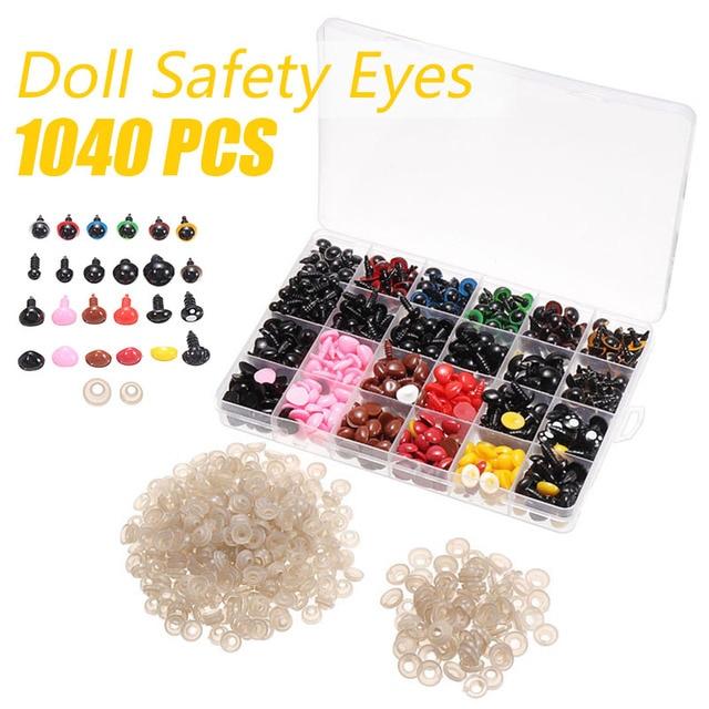 Plastic Safety Eyes Noses Box