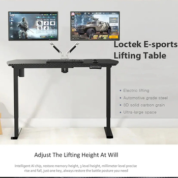55 Inch Ergonomic Gaming Desk E-sports Computer Table Electric Height Adjustable Standing Coffee Desk Carbon Table Laptop Desk