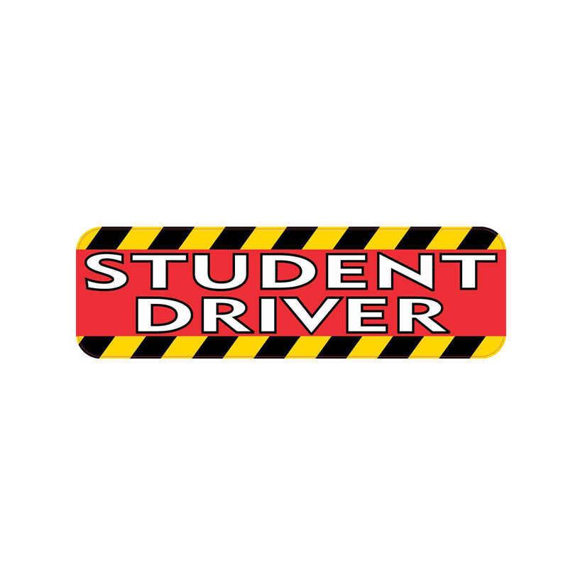 Aliauto autocollant de voiture drôle créatif étudiant pilote accessoires PVC pour Opel Astra Hyundai Solaris Skoda Octavia A5, 16cm * 5cm