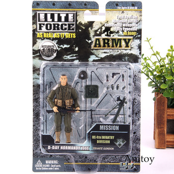 Army Soldiers Action Figure With Weapons Military Toys Elite Force 1:18 Soldier Figure Set PVC Collectible Model Toy 4pcs/set