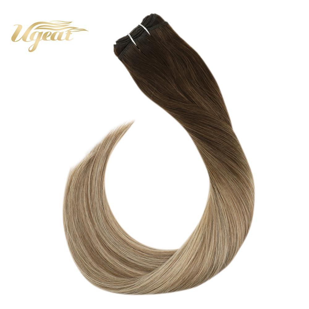 Ugeat Human Hair Weaves 100% Real Human Hair 14-24